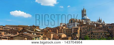 Cityscape Of The Historic Town Of Siena, Italy