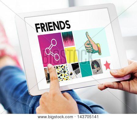 Friends Community Connection Partnership Unity Concept