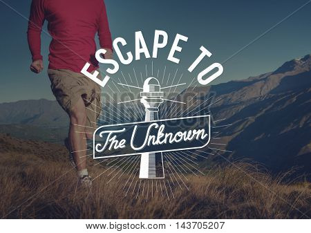 Escape To The Unknown Graphic Concept
