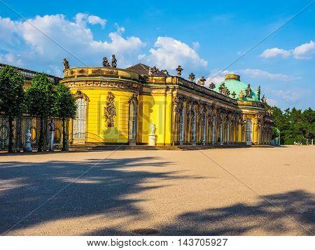 Schloss Sanssouci In Potsdam (hdr)