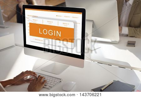 Online Application Registration Form Graphics Concept