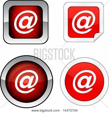 Arroba  web buttons. Vector illustration.