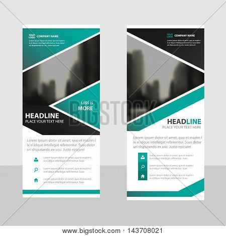 Green Business Roll Up Banner flat design template Abstract Geometric banner template Vector illustration set abstract presentation brochure flyer template vertical template vector