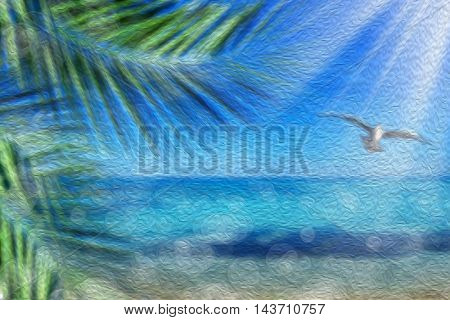 abstract background image of seascape and light