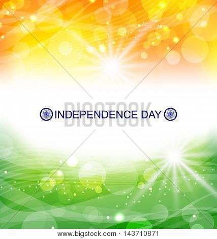 Illustration Abstract Background for Indian Independence Day - Vector