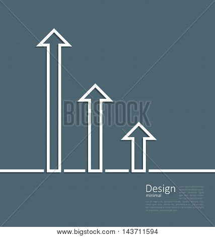 Illustration arrows indicating a boost in success , logo template corporate style - vector