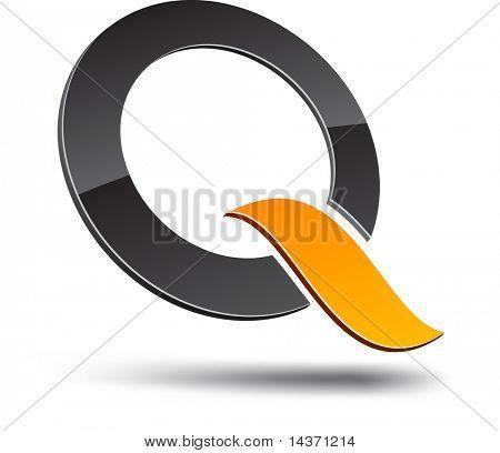 Q design element. Vector illustration.