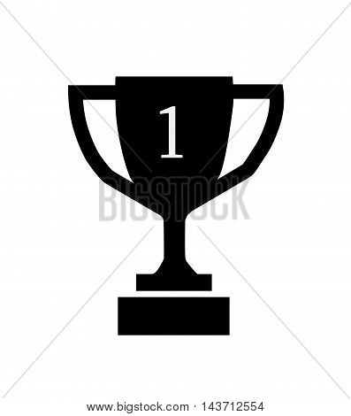 Trophy Icon Vector Illustration, Trophy Icon on white background