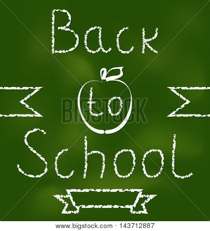 Illustration Back to school background with text - vector
