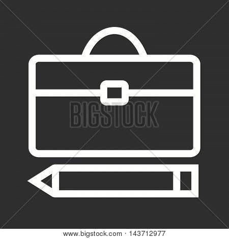 Pen, briefcase, business icon vector image. Can also be used for web. Suitable for use on web apps, mobile apps and print media.
