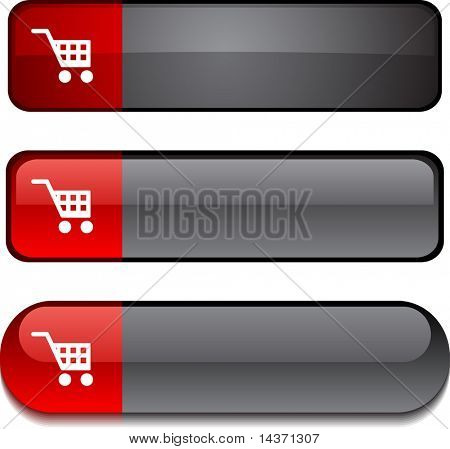 Buy  web buttons. Vector illustration.