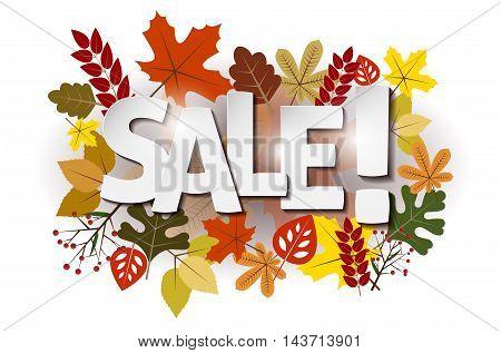 Autumn Leaves And Sale Inscription