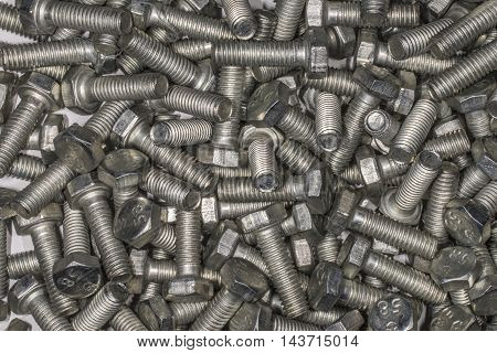 Metal background - pile of metal components.