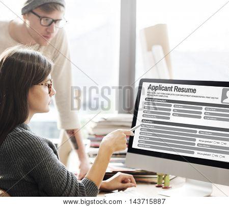 Resume Career Recruitment Employment Occupation Concept