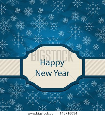Illustration Congratulation Card for Happy New Year - Vector