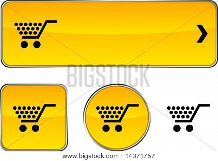 Shopping  web buttons. Vector illustration.
