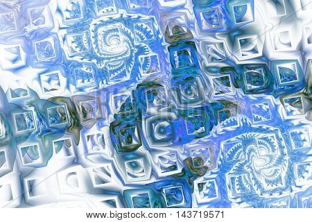 Abstract fantasy color splashes on white background. Creative fractal design for greeting cards or t-shirts.