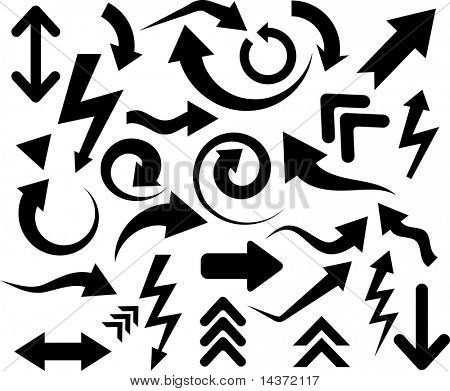 Collection of arrows. Vector illustration.
