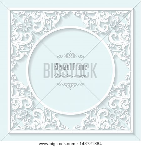 Elegant template. Can be used for wedding design.