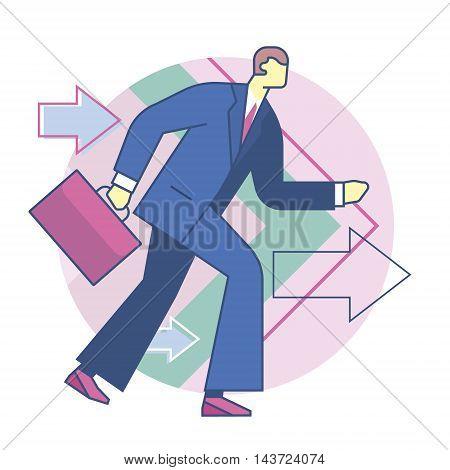 forward business development, forward movement, business concept