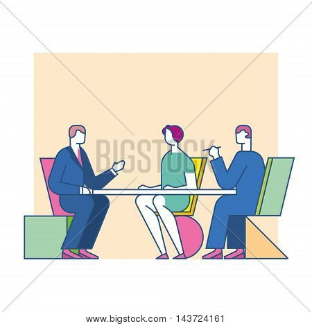 meeting negotiate at the table, business concept
