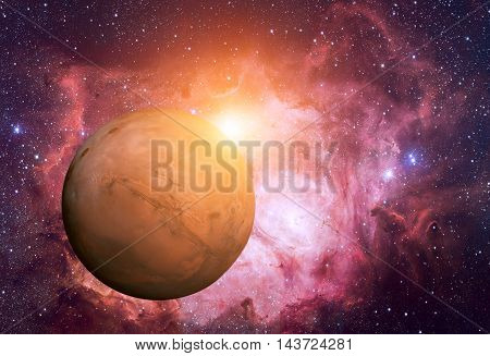 Solar System - Mars. It Is The Fourth Planet From The Sun. Mars Is A Terrestrial Planet With A Thin