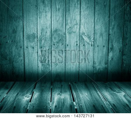 Wooden Interior With Colorful Wall And Floor.