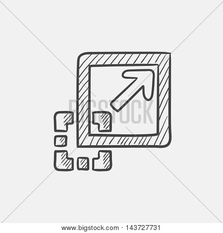 Add content sketch icon for web, mobile and infographics. Hand drawn vector isolated icon.