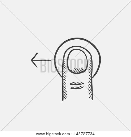 Drag left sketch icon for web, mobile and infographics. Hand drawn vector isolated icon.