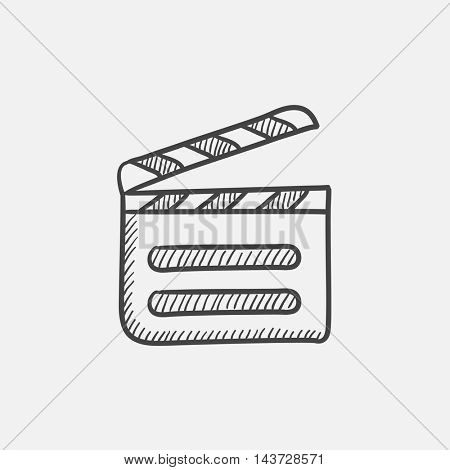 Clapboard sketch icon for web, mobile and infographics. Hand drawn vector isolated icon.