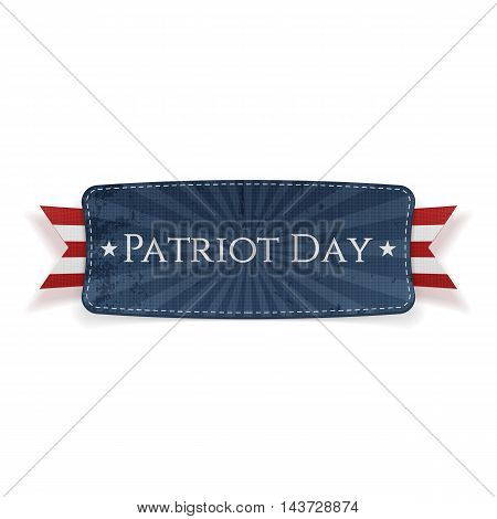 Patriot Day Banner and Ribbon isolated on white Background