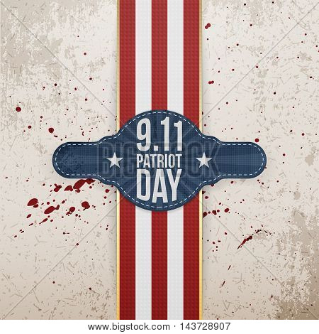 Patriot Day 9-11 realistic patriotic Tag Template