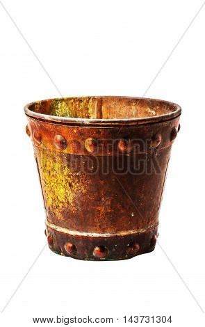old of a bucket on white background.