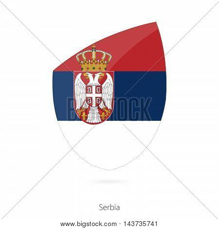 Flag Of Serbia. Serbian Rugby Flag.