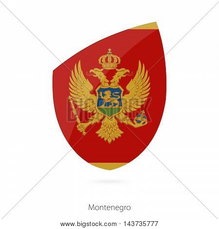 Flag Of Montenegro. Montenegro Rugby Flag.