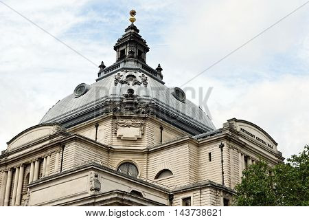 The Methodist Central Hall in the City of Westminster - a multi-purpose venue and tourist attraction in London England.