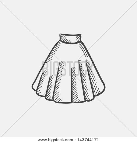 Skirt sketch icon for web, mobile and infographics. Hand drawn vector isolated icon.