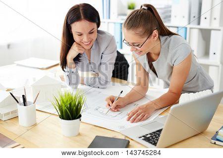 Women Working on Design in Office