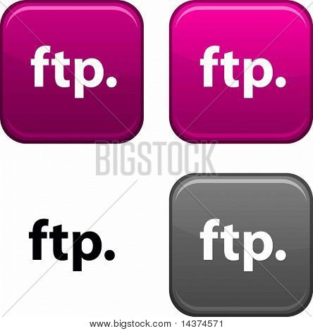 FTP square buttons. Black icon included.