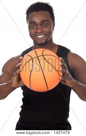 Young With Basketball Ball