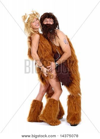 Cave Man And Cave Woman