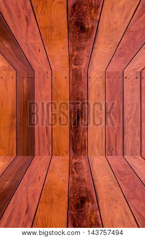 Close up of wall made of wooden planks.