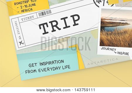 Trip Travel Destination Explore Tour Concept