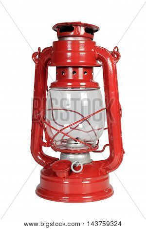 the kerosene lamp on a white background