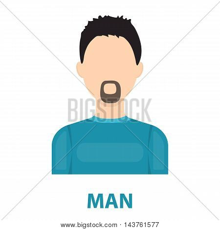 Man with a beard icon cartoon. Single avatar, peaople icon from the big avatar collection.