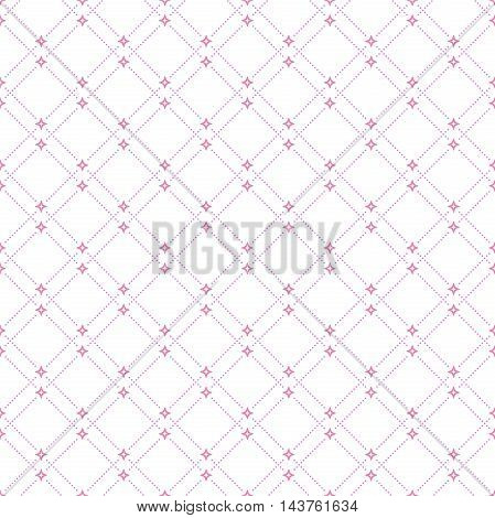 Geometric repeating vector pink pattern. Seamless abstract modern texture for wallpapers and backgrounds