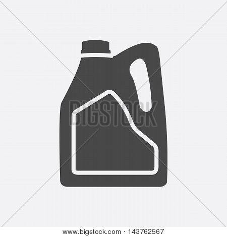 Pouring Motor Oil icon black. Single car repair symbol.
