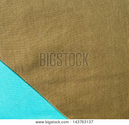 the seam between two different color on fabric.