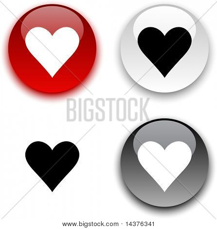 Love glossy round vector buttons.