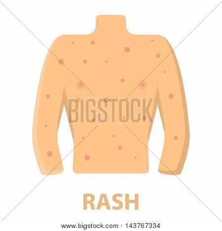 Rash icon cartoon. Single sick icon from the big ill, disease collection.